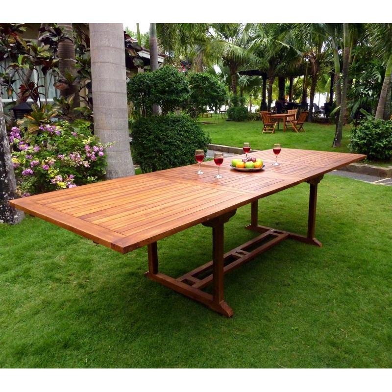table grande taille en teck huil. Black Bedroom Furniture Sets. Home Design Ideas