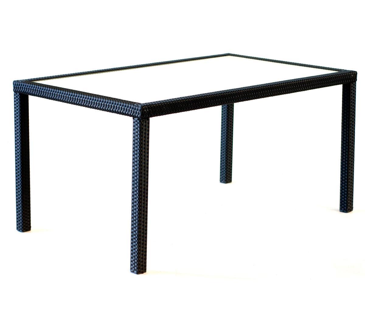 Table de jardin rectangle : résine tressée