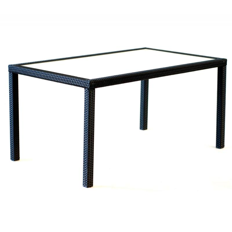 Table en r sine rectangulaire de jardin for Table de jardin resine