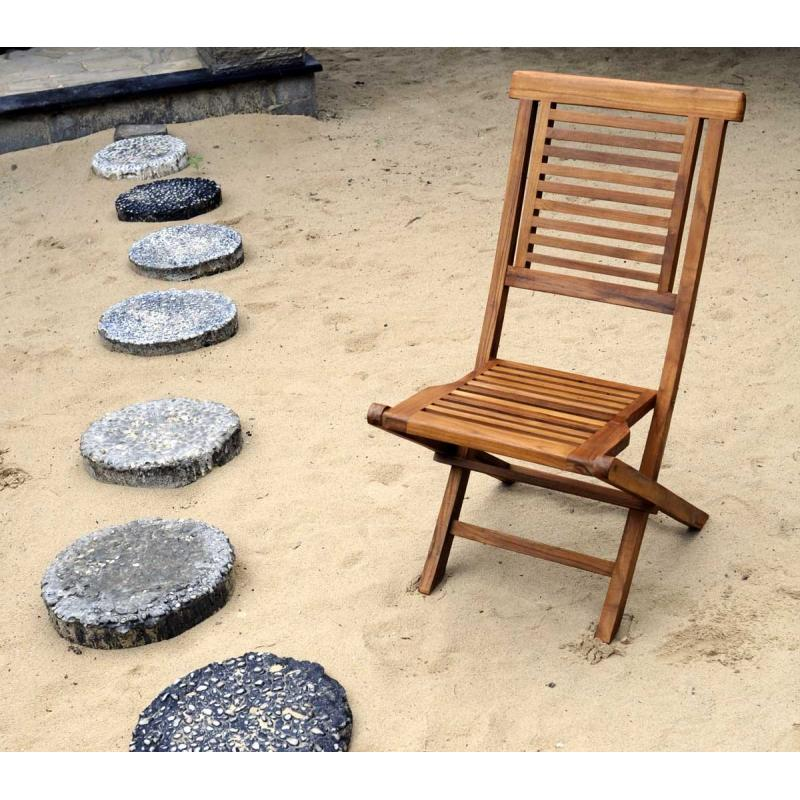Chaise de jardin en teck huil garuda chaise pliante for Chaise jardin teck