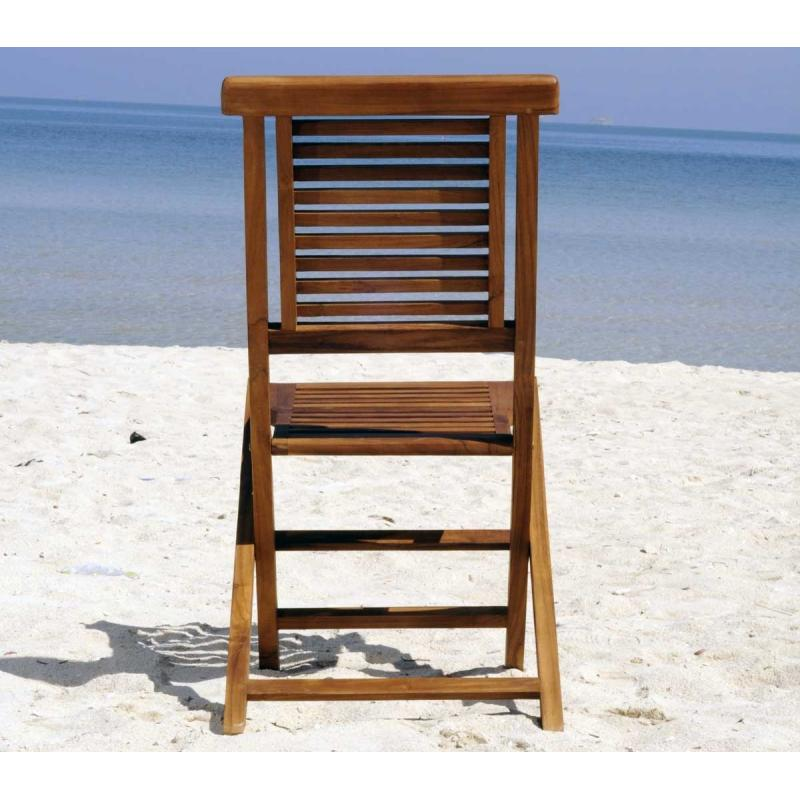 chaise de jardin en teck huil garuda chaise pliante wood en stock. Black Bedroom Furniture Sets. Home Design Ideas
