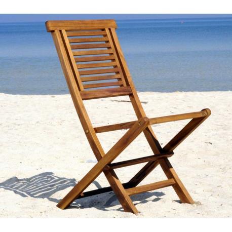 Chaise de jardin en teck huilé - Garuda - chaise pliante