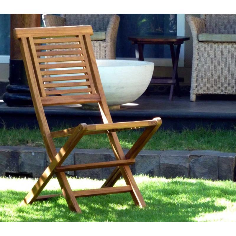 Chaise de jardin en teck huil garuda chaise pliante for Chaise en teck pliante