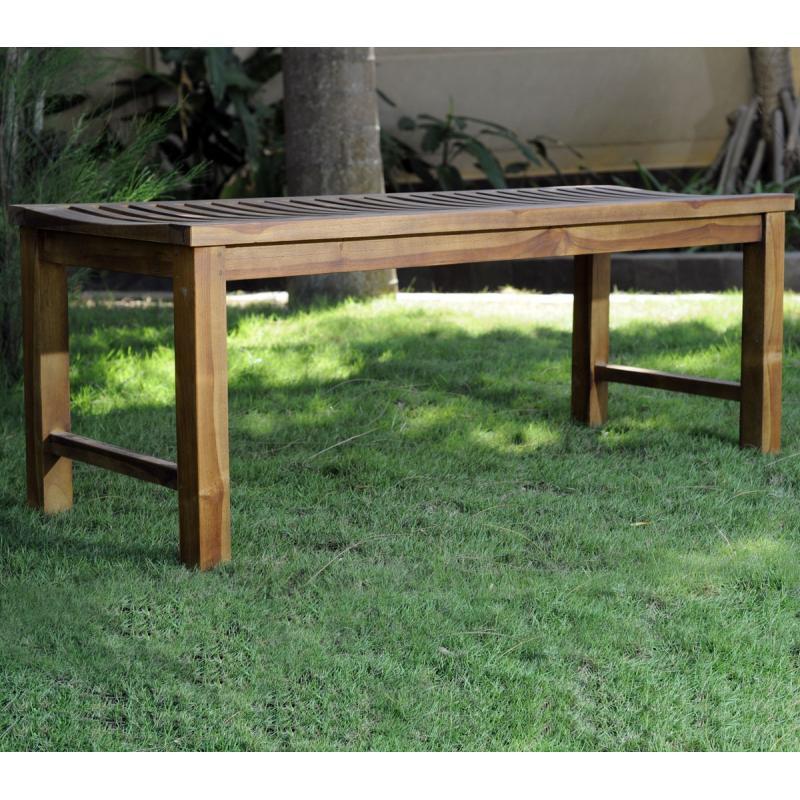 banc en teck de jardin 120 cm teck huile. Black Bedroom Furniture Sets. Home Design Ideas