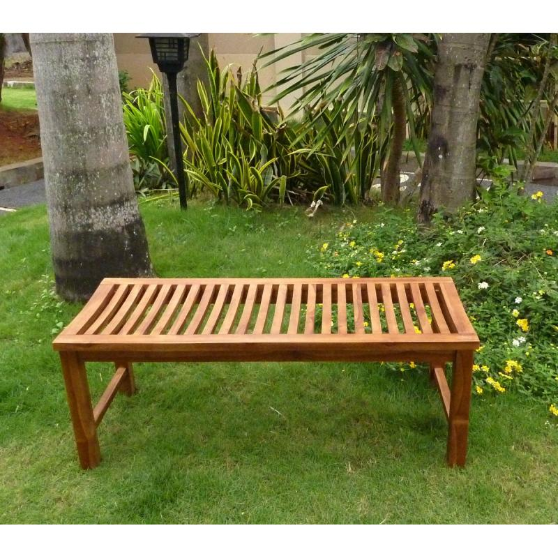 Awesome banc de jardin oriental photos for Banc en teck pour jardin