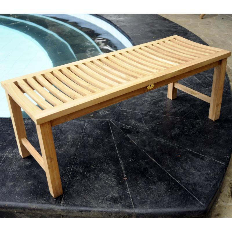 banc en teck de jardin 120 cm teck brut. Black Bedroom Furniture Sets. Home Design Ideas