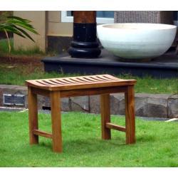 Banc en teck huilé 60 cm - banc, tabouret de jardin