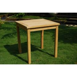 Table de jardin 70x70 cm en teck brut