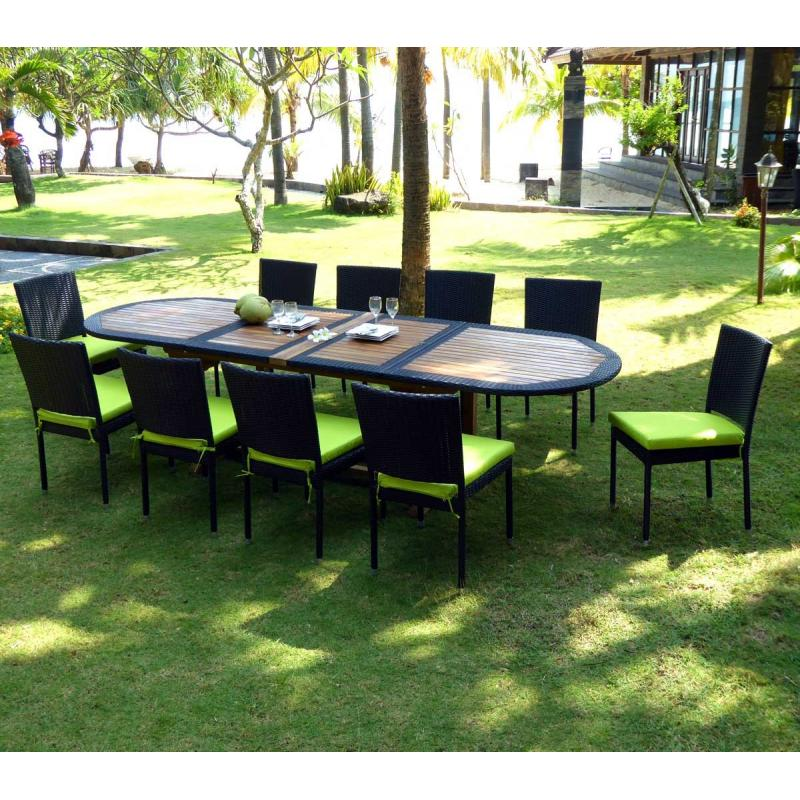 salon de jardin teck et resine tressee meuble tables de jardin en promotion. Black Bedroom Furniture Sets. Home Design Ideas