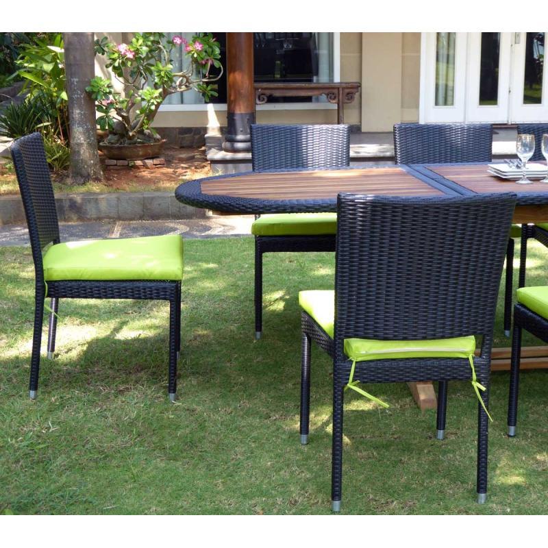 Salon de jardin teck et resine tressee meuble tables de for Meuble jardin resine tressee