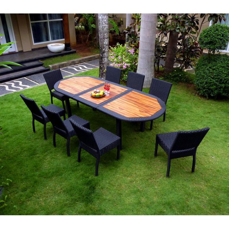meuble en teck de jardin salon de jardin teck et r sine tress e fauteuils de jardin. Black Bedroom Furniture Sets. Home Design Ideas