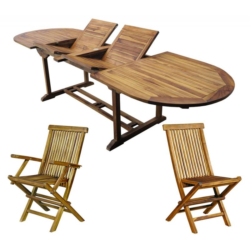 salon en teck : meublez de jardin - table 12 places