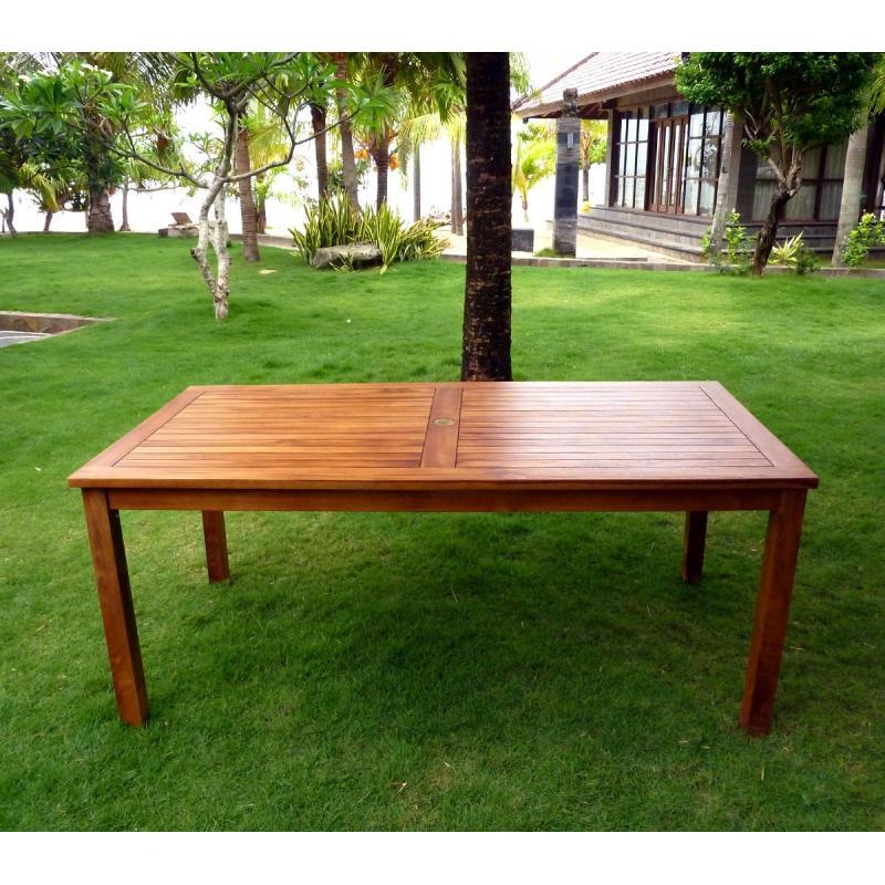 Table De Jardin En Teck Huile Table Rectangulaire Nias 180 Cm