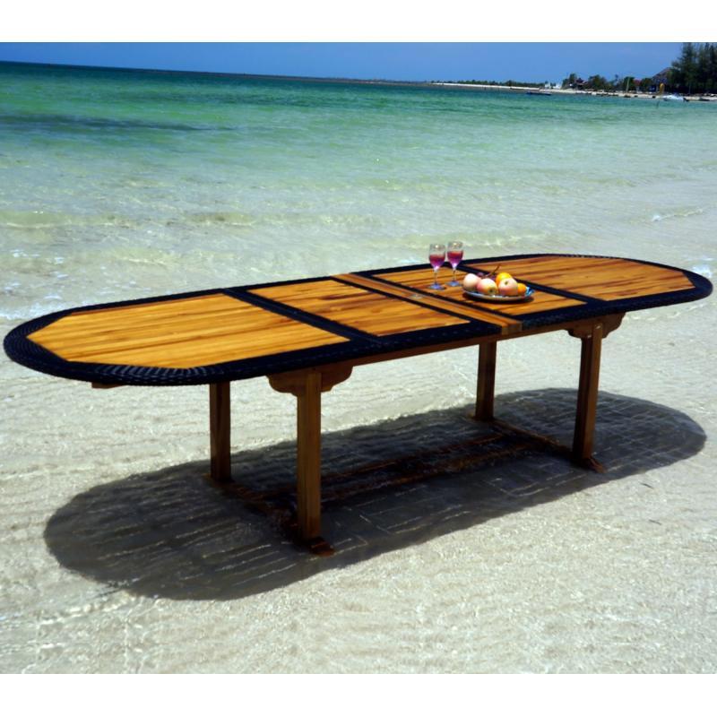 Table de jardin en teck et resine des id es int ressantes pour la conception de for Grande table de jardin en teck