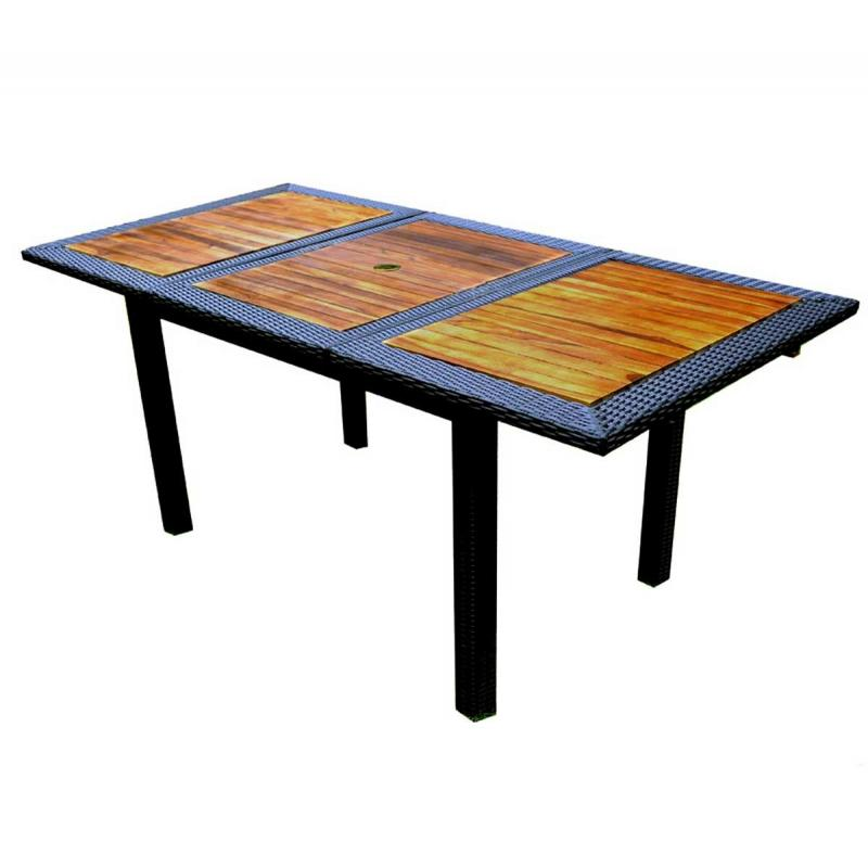Table De Jardin En Teck En R Sine Tress E Rectangulaire