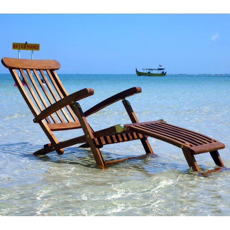 chaise longeu en teck transat de jardin. Black Bedroom Furniture Sets. Home Design Ideas