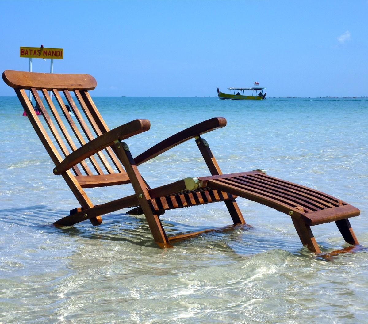 Chaise longue en teck huilé - transat