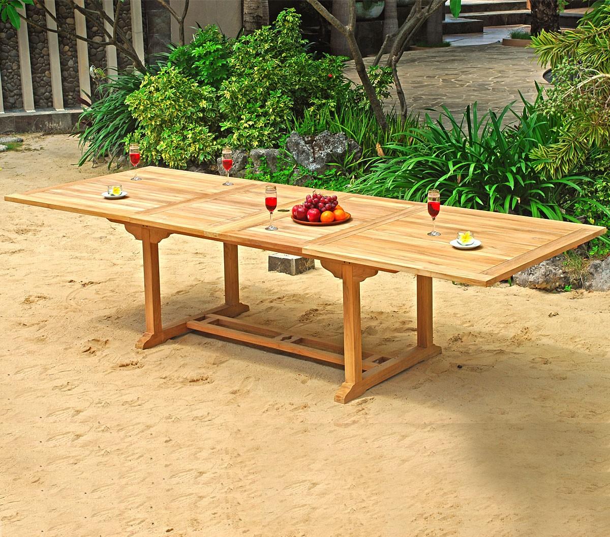 table de jardin xxl 3 metres rectangulaire. Black Bedroom Furniture Sets. Home Design Ideas
