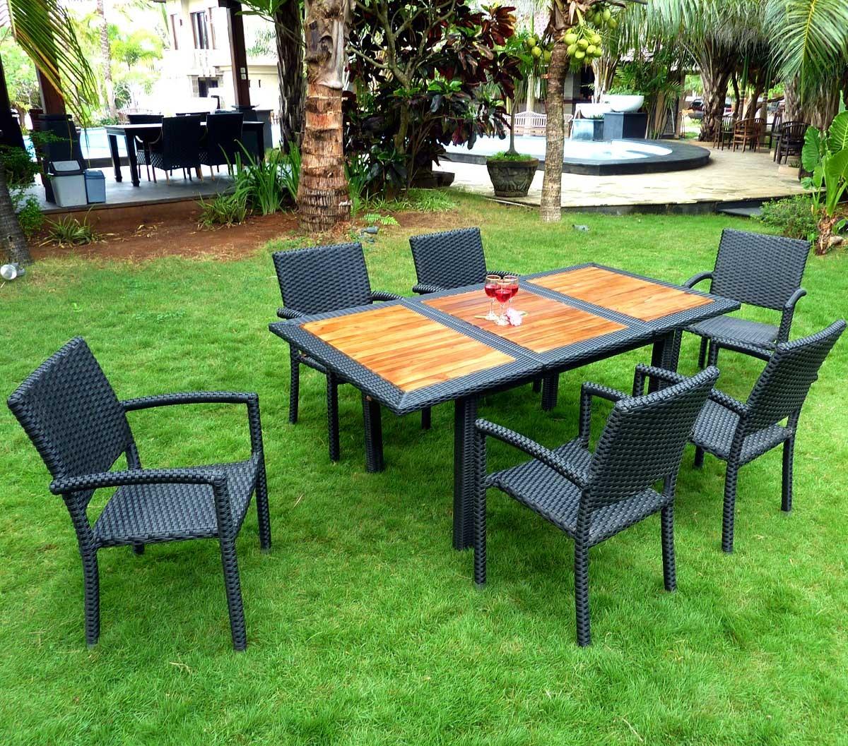 Salon De Jardin Teck Et Resine Lombok Rattan Wood En Stock