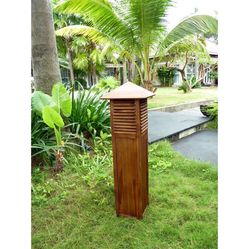 Décoration Luminaire pour jardin en teck Borne extérieur