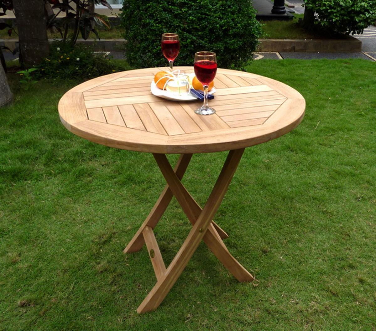 Table de jardin plainte en teck brut -mobiler de jardin en promotion