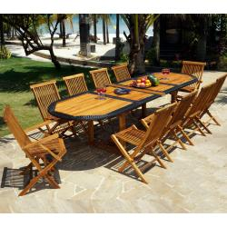 Salons de jardin XXL table 200-300 cm - wood-en-stock