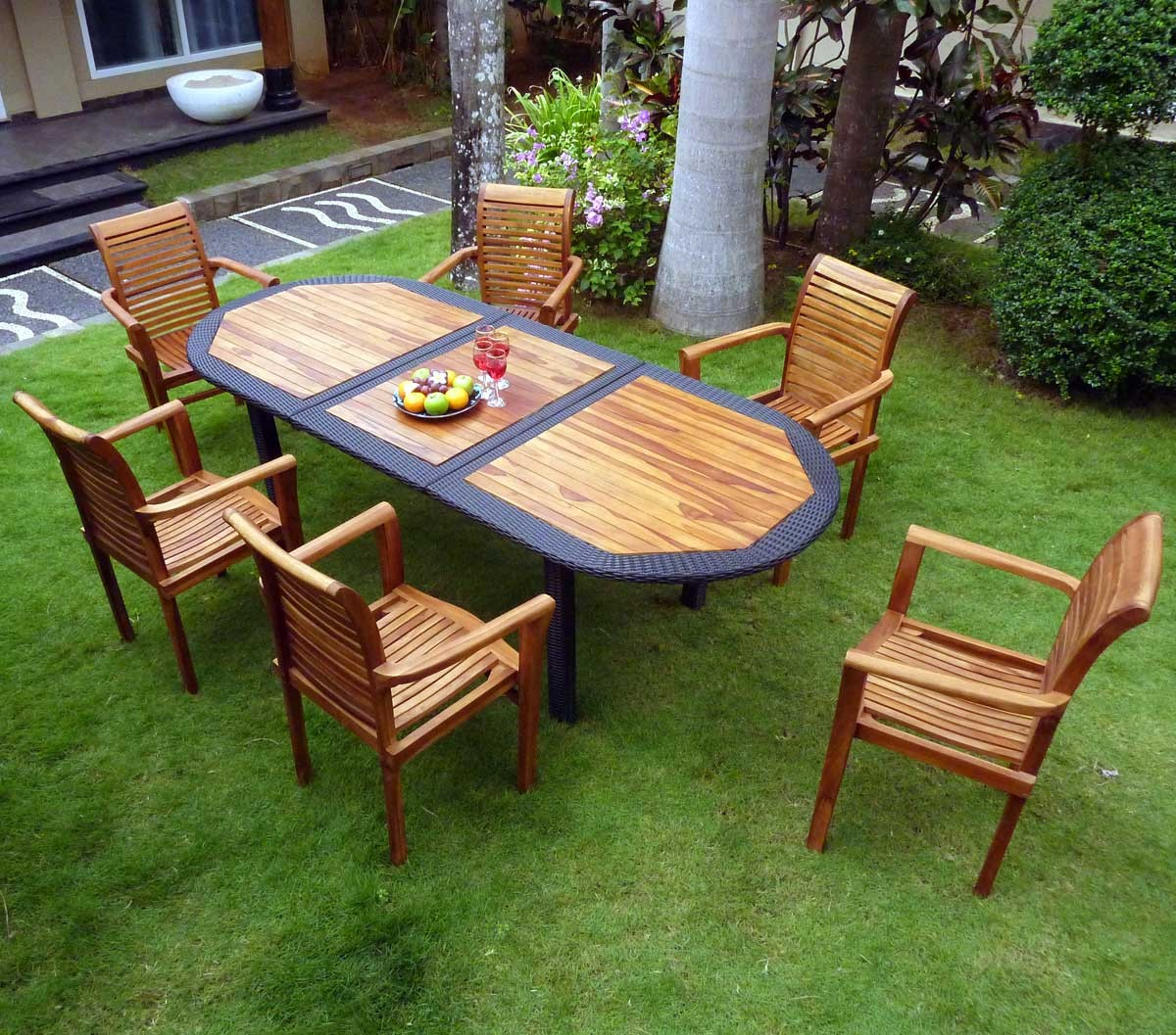 Best Salon De Jardin Resine Tressee Java Wood Hesperide Pictures ...