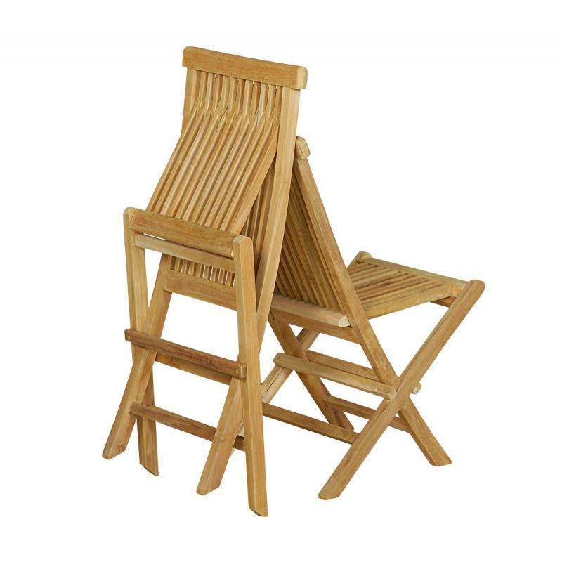 Chaise en teck naturel brut de grade jardin interieur - Chaise pliante en teck ...