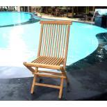 Chaise pliante kuta en teck brut