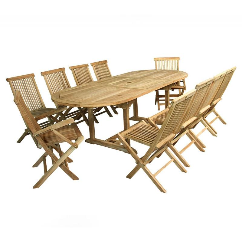 Salon 10 personnes de jardin table ovale et 10 assises for Salon de jardin 10 personnes