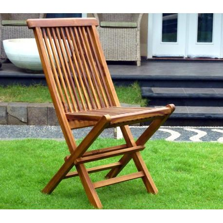 Salon de jardin pas cher et meuble en teck et r sine - Chaise pliante en teck ...