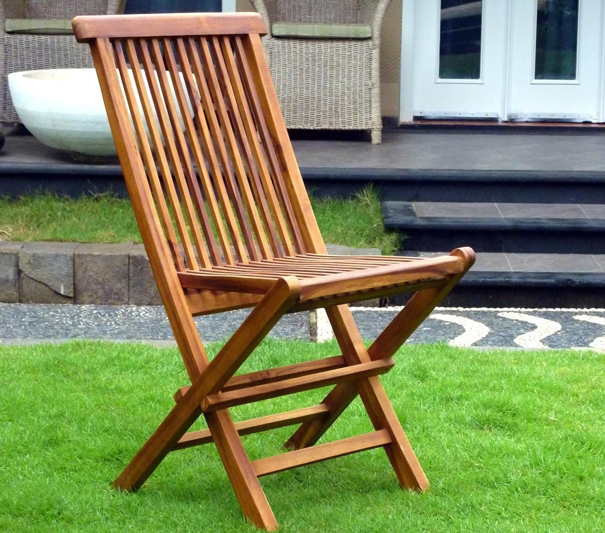 chaises pliante en teck huil meuble de jardin. Black Bedroom Furniture Sets. Home Design Ideas