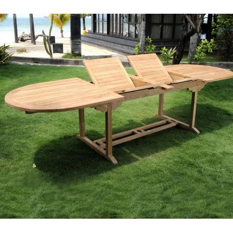 Table ovale en teck brut naturel XXL : Sumatra