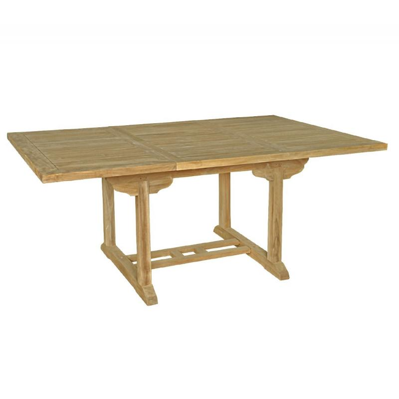 table de jardin en teck 8 places rallonge papillon. Black Bedroom Furniture Sets. Home Design Ideas