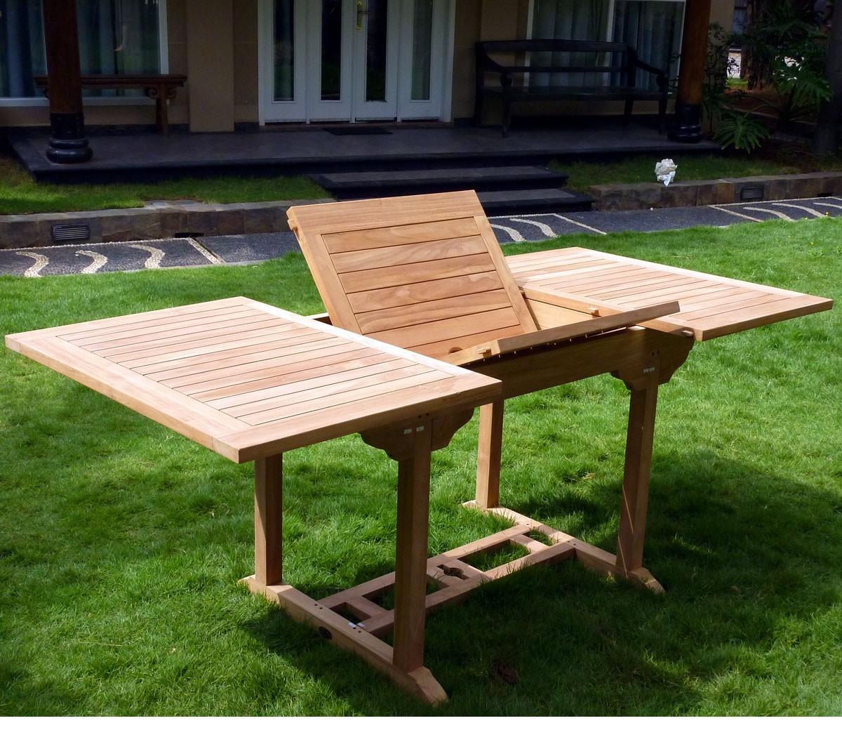 Table de jardin en Teck naturel 8 places rectangulaire : Lombok