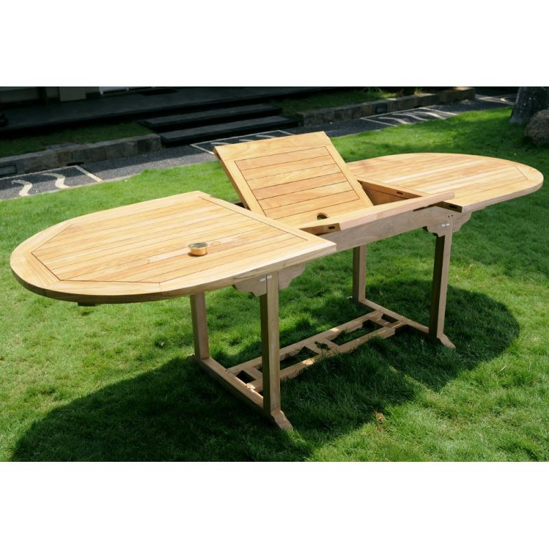 Table de jardin en teck massif naturel 10 places - Table en teck exterieur ...