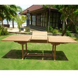 Table de jardin en teck brut 10 places : Flores