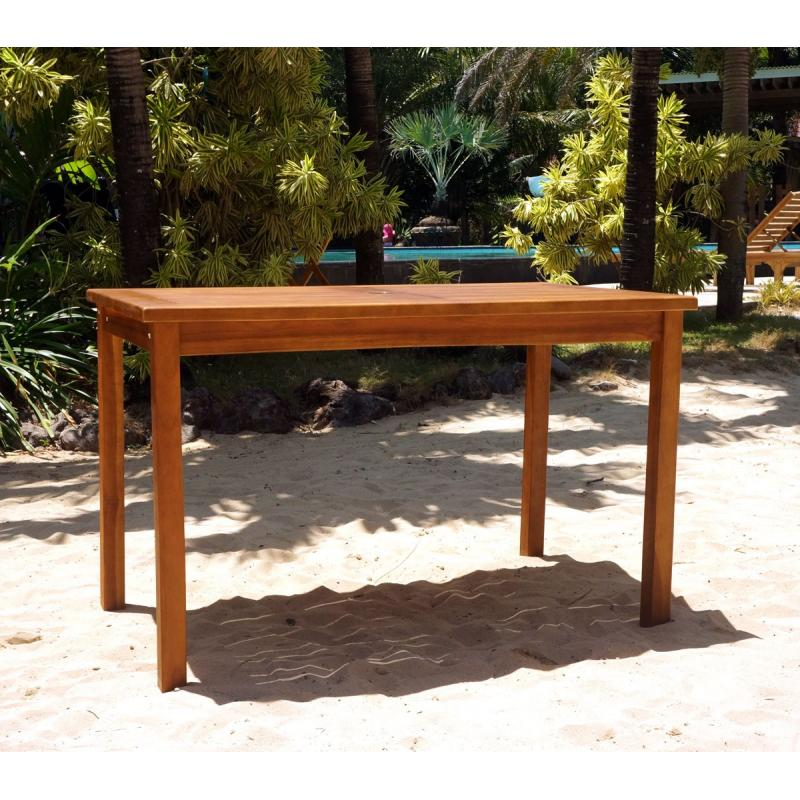 Table de jardin en teck huil 120 x 70 cm for Table de jardin en teck