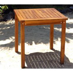 Table de jardin en teck huilé - carrée 70 cm