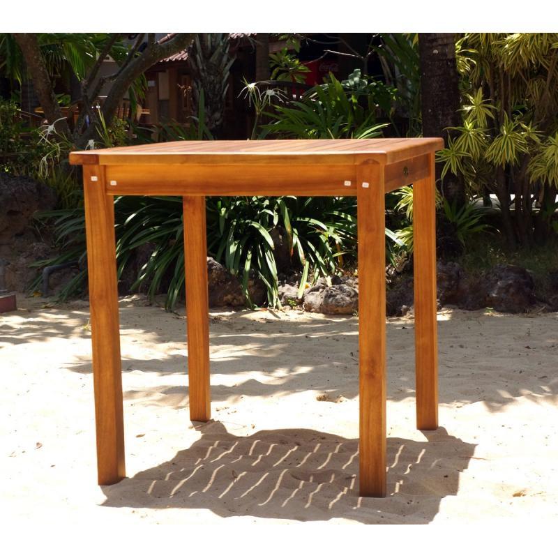 Table de jardin en teck huil carr e 70 cm wood en stock - Table de jardin en teck prix ...
