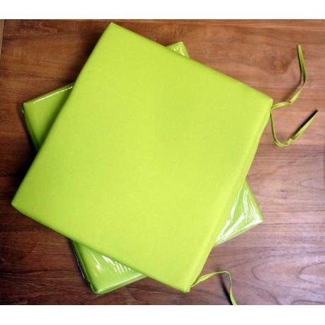coussin vert Lime en toile pour chaises et fauteuils pliants en teck
