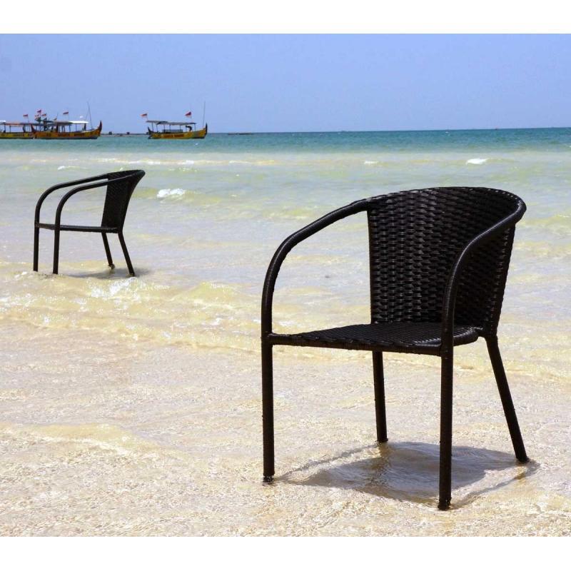 fauteuil de jardin en r sine tress e mod le bora wood. Black Bedroom Furniture Sets. Home Design Ideas