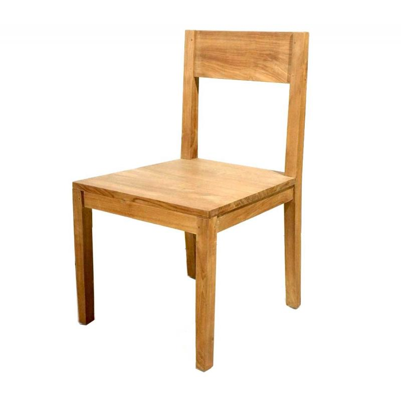 chaise en teck int rieur grade a. Black Bedroom Furniture Sets. Home Design Ideas