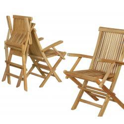 fauteuil pliant de jardin en teck grade A