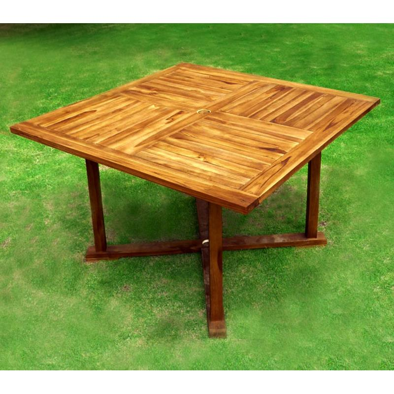 Table De Jardin En Teck Huil Table Carr E 120 Cm Wood En Stock