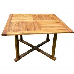 table de jardin en teck huilé - table carrée 120 cm