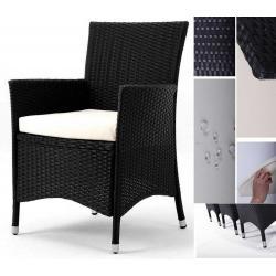lot 2 fauteuils en résine tressée x2 Sydney - poly rotin