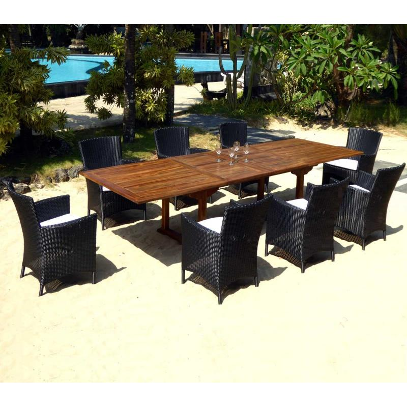 Grand salon de jardin en resine olympia for Mobilier de jardin unopiu