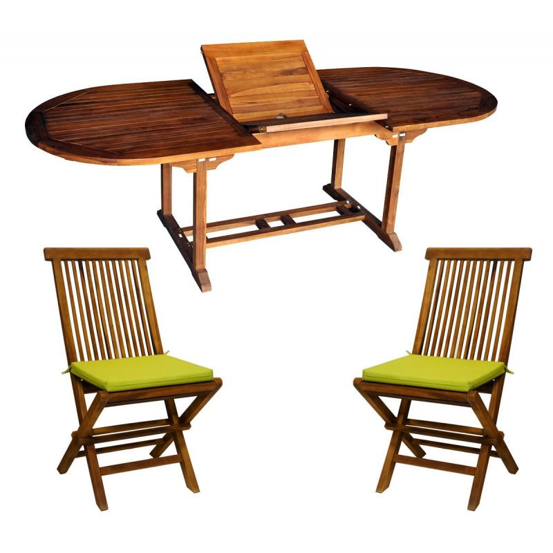 Le salon java en teck huil est compos de 10 chaises avec - Huile de teck ...