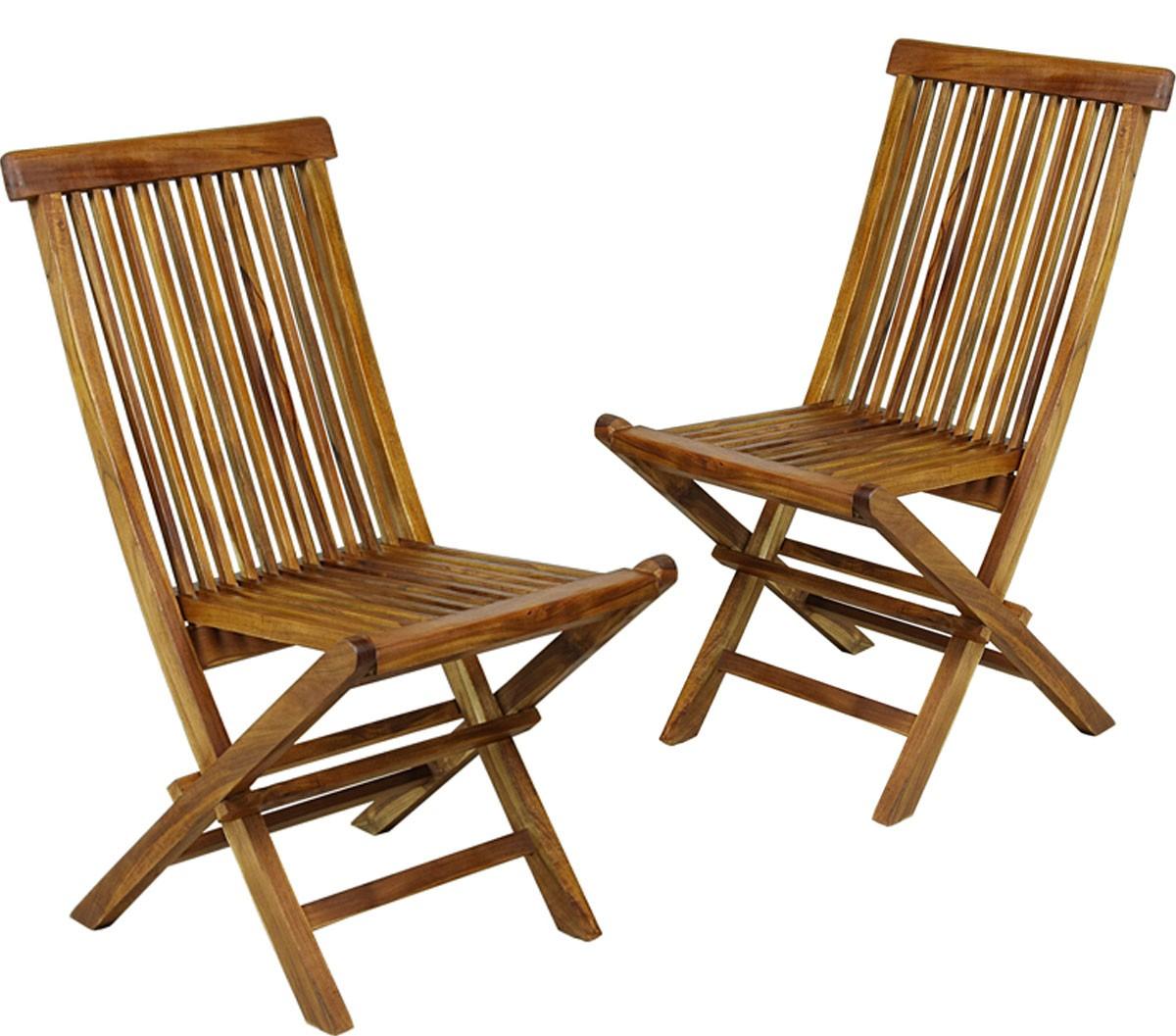 Mobilier de jardin chaises de jardin pliante en teck huilé ...